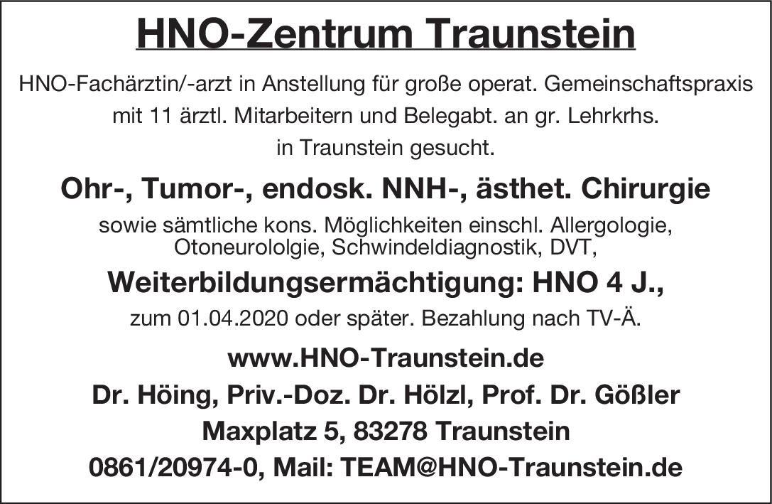 HNO-Zentrum Traunstein HNO-Fachärztin/-arzt  Hals-Nasen-Ohrenheilkunde, Hals-Nasen-Ohrenheilkunde Arzt / Facharzt