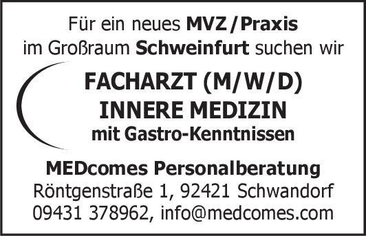MVZ / Praxis Facharzt (m/w/d) Innere Medizin mit Gastro-Kenntnissen  Innere Medizin und Gastroenterologie, Innere Medizin Arzt / Facharzt