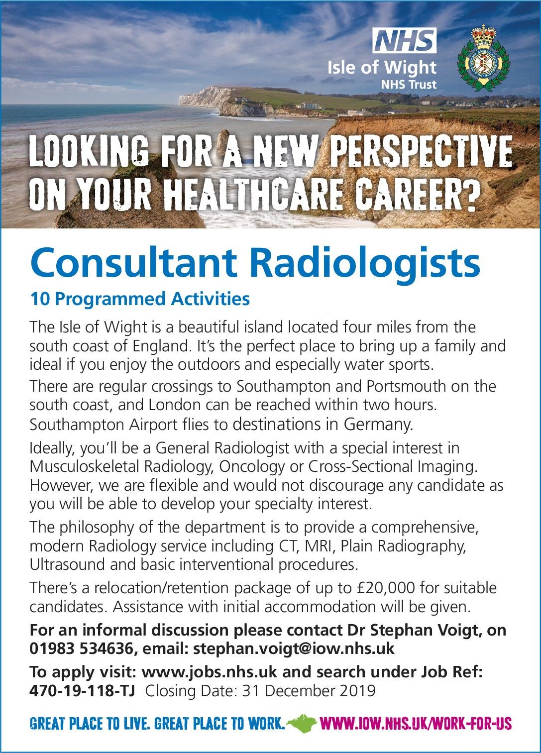 NHS Isle of Wight Consultant Radiologists  Radiologie, Radiologie Arzt / Facharzt