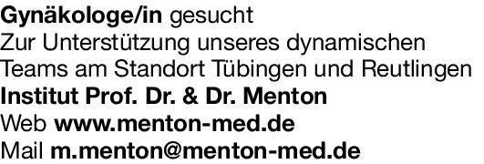 Institut Prof. Dr. & Dr. Menton Gynäkologin/ Gynäkologe  Frauenheilkunde und Geburtshilfe, Frauenheilkunde und Geburtshilfe Arzt / Facharzt
