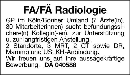 Gemeinschaftspraxis Facharzt/Fachärztin Radiologie  Radiologie, Radiologie Arzt / Facharzt