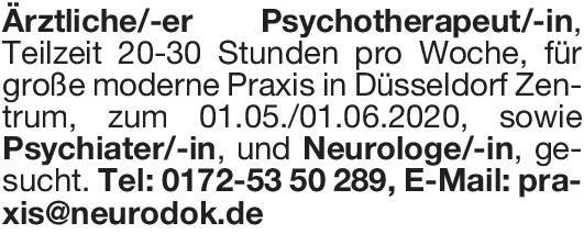 Praxis Psychiater/-in  Psychiatrie und Psychotherapie, Psychiatrie und Psychotherapie Arzt / Facharzt