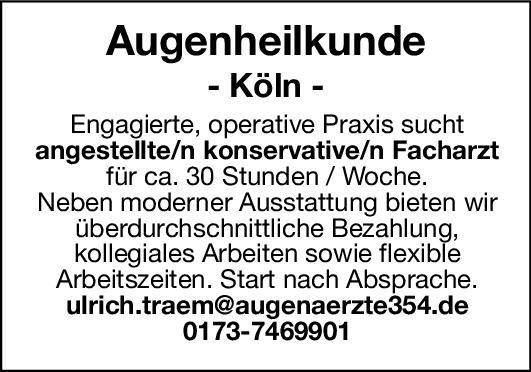 Praxis Facharzt/in - Augenheilkunde Augenheilkunde Arzt / Facharzt