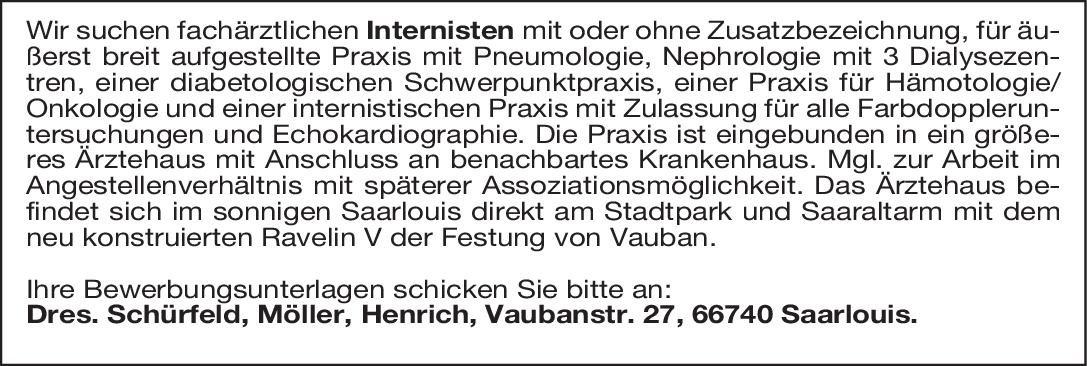Praxis Dres. Schürfeld, Möller, Henrich Internistin/ Internist  Innere Medizin, Innere Medizin Arzt / Facharzt