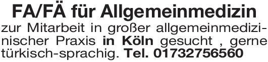 Praxis Facharzt/Fachärztin für Allgemeinmedizin Allgemeinmedizin Arzt / Facharzt