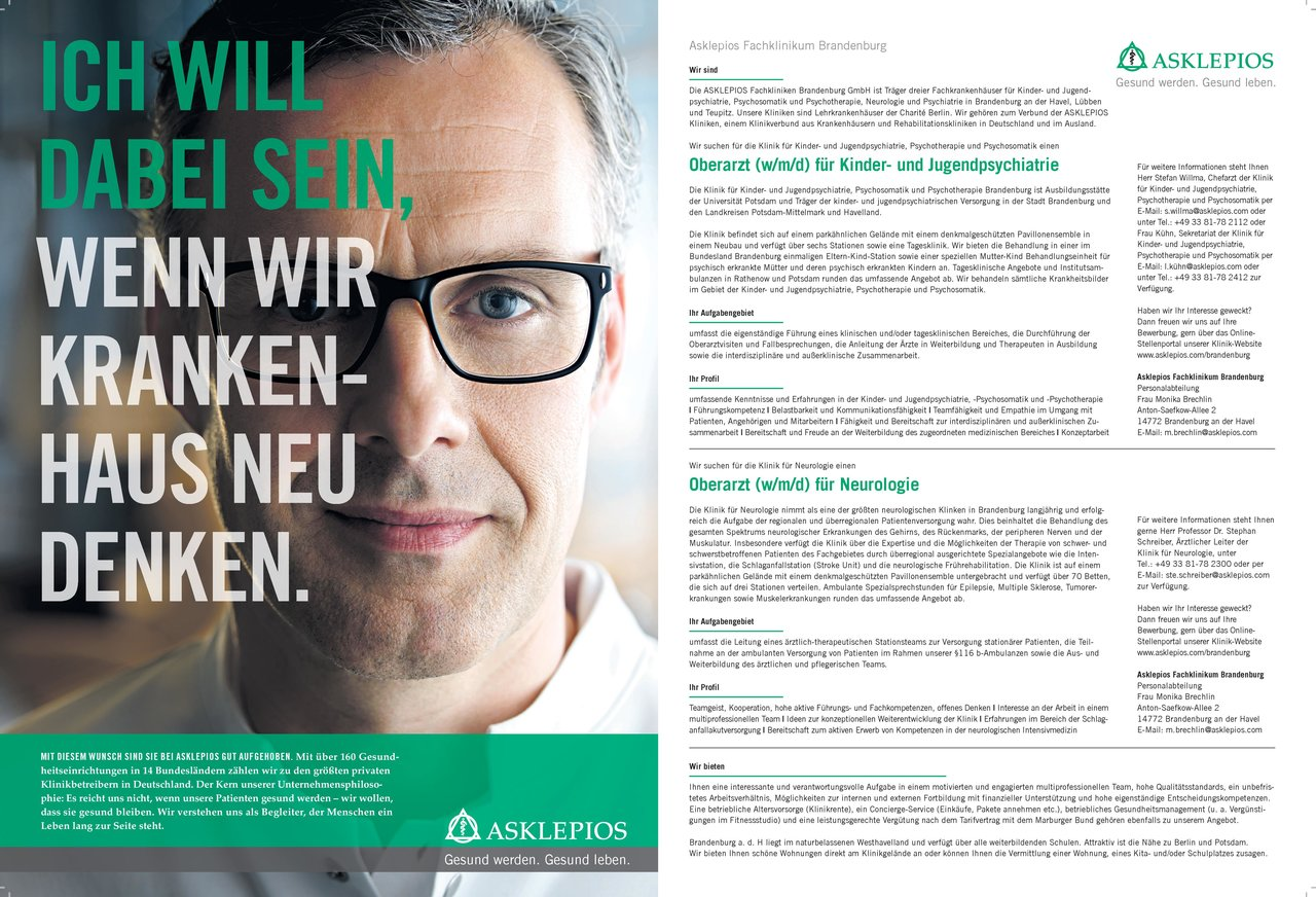 Asklepios Fachklinikum Brandenburg Oberarzt (w/m/d) für Neurologie Neurologie Oberarzt