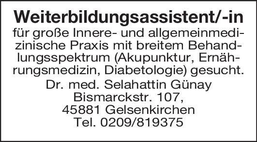 Allg. Praxis Dr. med.  Günay Weiterbildungsassistent/in für Innere- und Allgemeinmed.  Innere Medizin, Allgemeinmedizin, Innere Medizin Assistenzarzt / Arzt in Weiterbildung