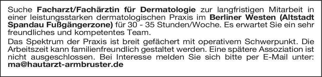 Praxis Facharzt/Fachärztin für Dermatologie Haut- und Geschlechtskrankheiten Arzt / Facharzt