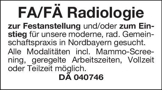 Praxis Facharzt/Fachärztin - Radiologie  Radiologie, Radiologie Arzt / Facharzt