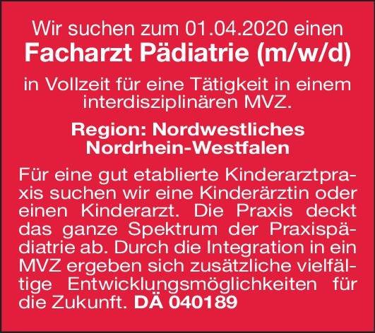 Praxis - MVZ Facharzt Pädiatrie (m/w/d)  Kinder- und Jugendmedizin, Kinder- und Jugendmedizin Arzt / Facharzt