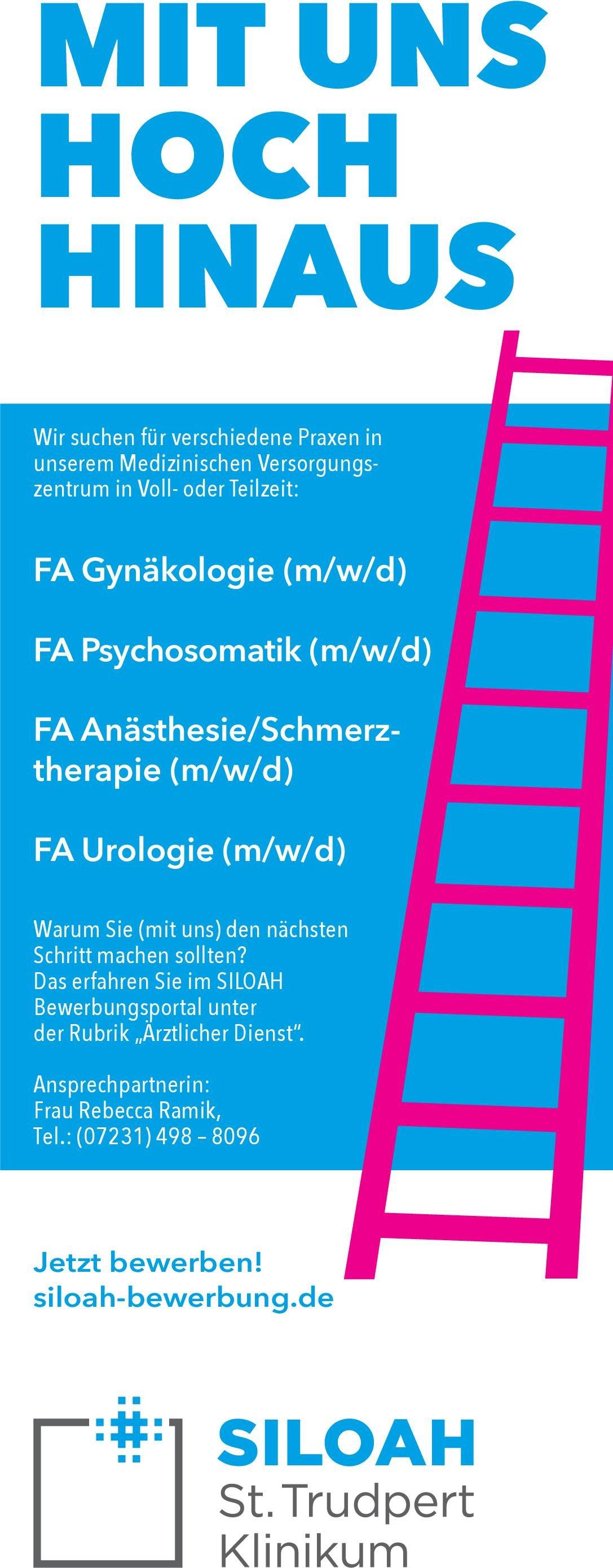 Siloah St. Trudpert Klinikum FA Psychosomatik (m/w/d) Psychosomatische Medizin und Psychotherapie Arzt / Facharzt