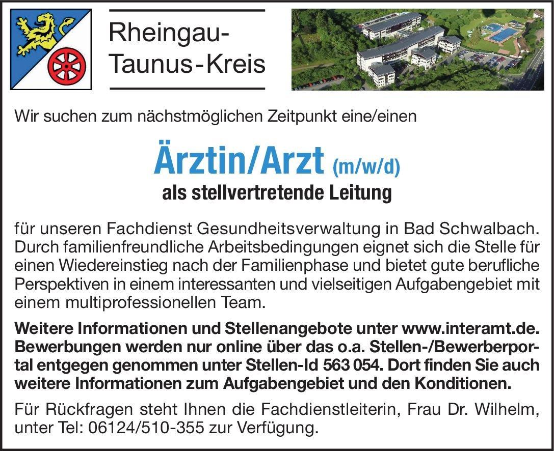 Rheingau-Taunus-Kreis Ärztin/Arzt (m/w/d) Öffentliches Gesundheitswesen Arzt / Facharzt