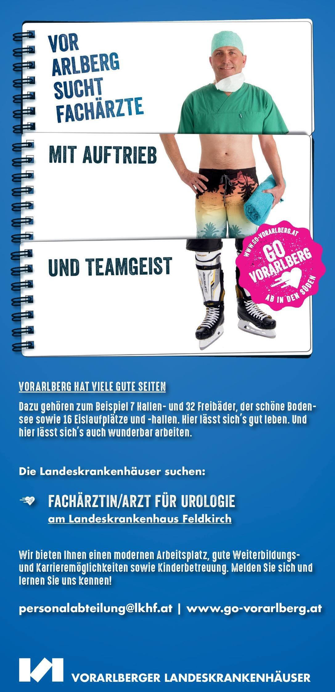 Landeskrankenhaus Feldkirch Fachärztin/Facharzt für Urologie Urologie Arzt / Facharzt