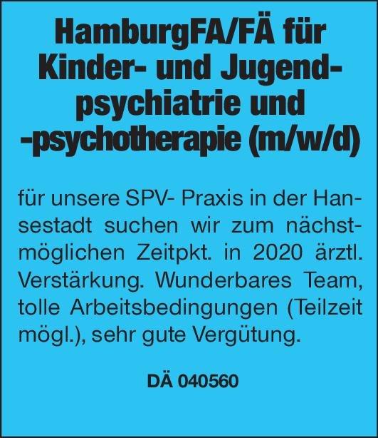 SPV- Praxis Facharzt/Fachärztin für Kinder- und Jugendpsychiatrie und -psychotherapie (m/w/d) Kinder- und Jugendpsychiatrie und -psychotherapie Arzt / Facharzt