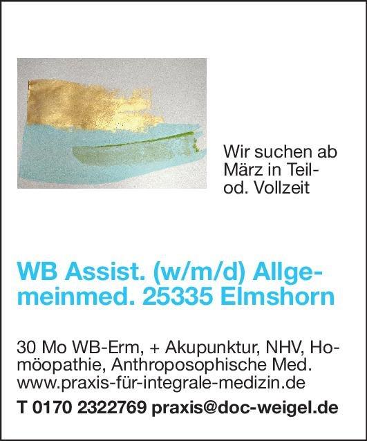 Praxis Weiterbildungsassistent (w/m/d) Allgemeinmedizin Allgemeinmedizin Assistenzarzt / Arzt in Weiterbildung