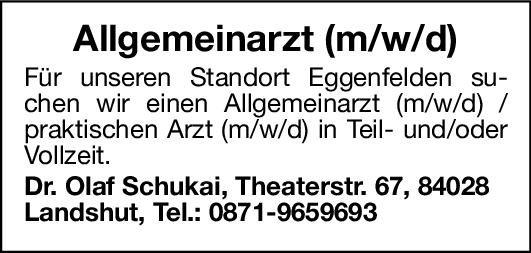 Praxis Dr. Olaf Schukai Arzt für Allgemeinmedizin (m/w/d) Allgemeinmedizin Arzt / Facharzt