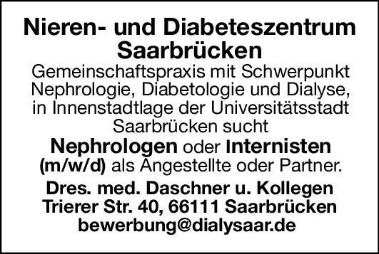 Praxis Dres. med. Daschner u. Kollegen Nephrologen oder Internisten (m/w/d)  Innere Medizin und Endokrinologie und Diabetologie, Innere Medizin und Nephrologie, Innere Medizin Arzt / Facharzt