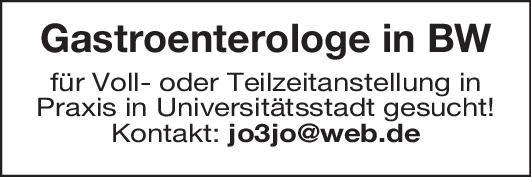 Praxis Gastroenterologe m/w  Innere Medizin und Gastroenterologie, Innere Medizin Arzt / Facharzt