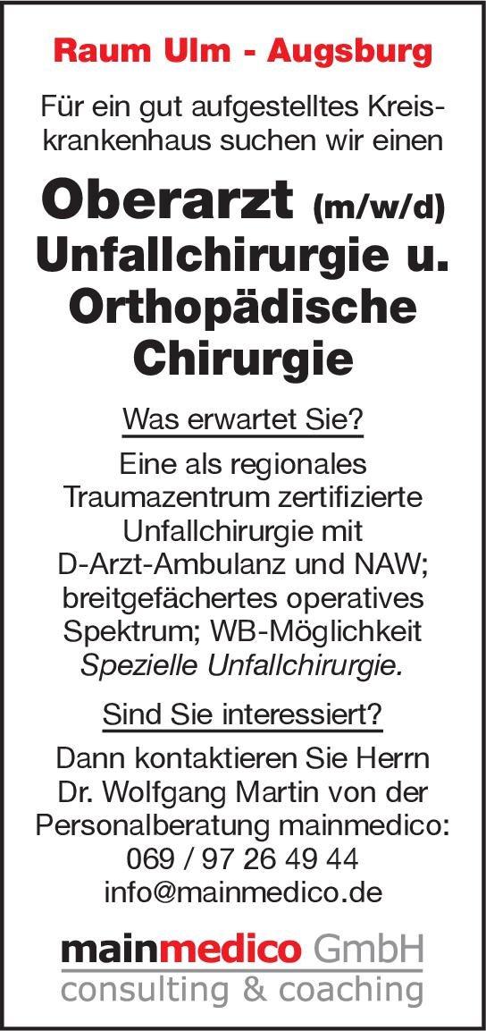 Kreiskrankenhaus Oberarzt (m/w/d) Unfallchirurgie u.Orthopädische Chirurgie  Orthopädie und Unfallchirurgie, Chirurgie Oberarzt