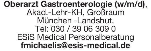 ESiS Medical Personalberatung Oberarzt Gastroenterologie (w/m/d)  Innere Medizin und Gastroenterologie, Innere Medizin Oberarzt