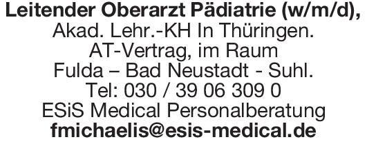 ESiS Medical Personalberatung Leitender Oberarzt Pädiatrie (w/m/d)  Kinder- und Jugendmedizin, Kinder- und Jugendmedizin Oberarzt