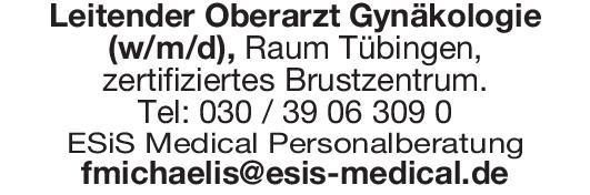 ESiS Medical Personalberatung Leitender Oberarzt Gynäkologie(w/m/d)  Frauenheilkunde und Geburtshilfe, Frauenheilkunde und Geburtshilfe Oberarzt
