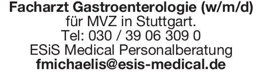 ESiS Medical Personalberatung Facharzt Gastroenterologie (w/m/d)  Innere Medizin und Gastroenterologie, Innere Medizin Arzt / Facharzt