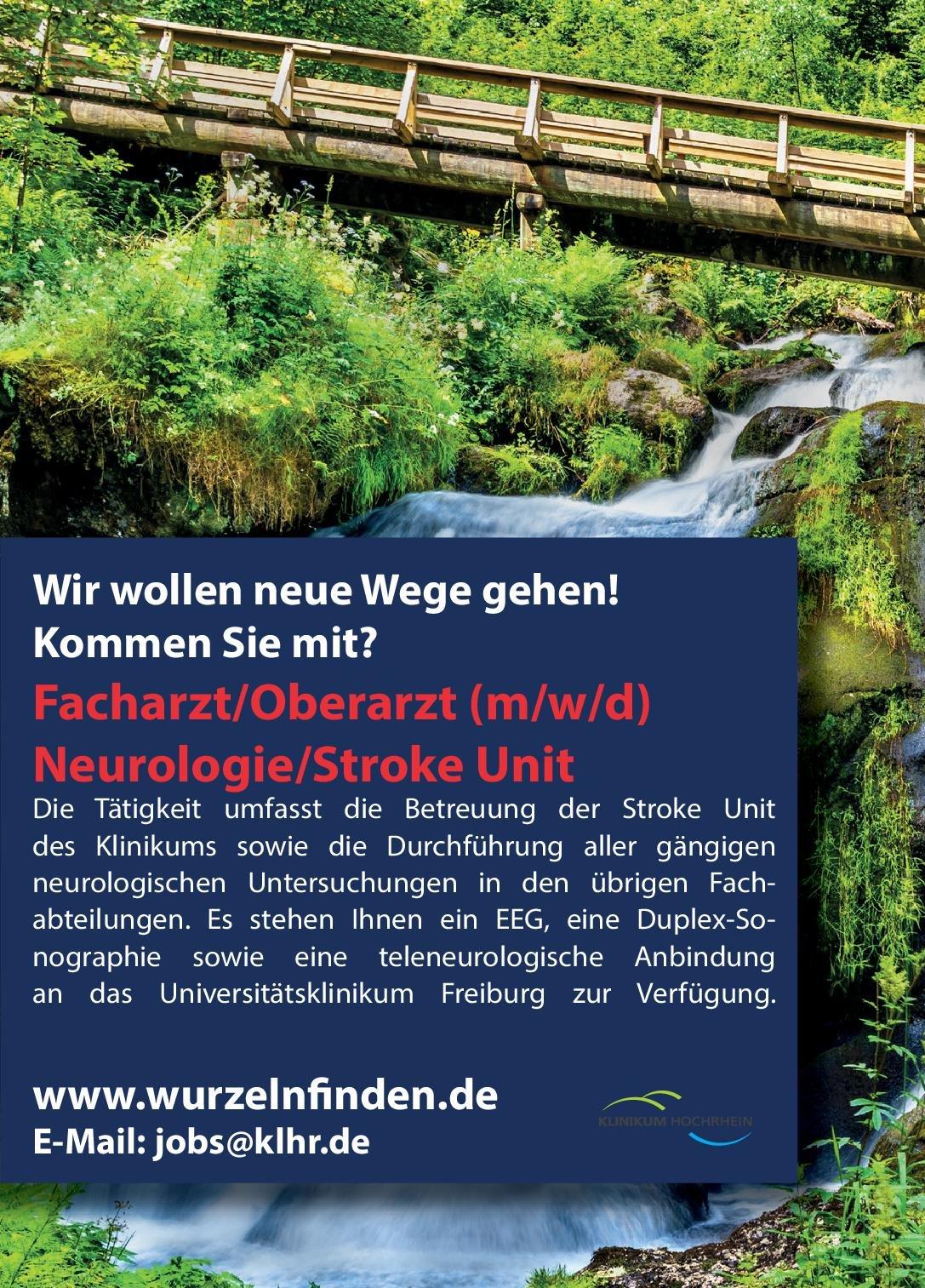 Klinikum Hochrhein Facharzt/Oberarzt (m/w/d) Neurologie/Stroke Unit Neurologie Arzt / Facharzt, Oberarzt