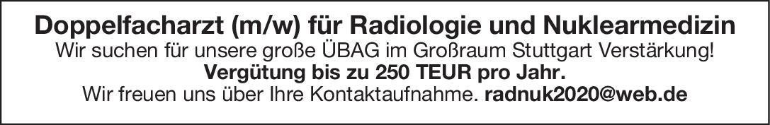 Praxis Doppelfacharzt (m/w) für Radiologie und Nuklearmedizin  Radiologie, Notfallmedizin, Radiologie Arzt / Facharzt