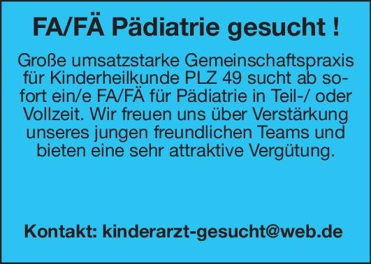 Praxis Fachärztin/Facharzt Pädiatrie  Kinder- und Jugendmedizin, Kinder- und Jugendmedizin Arzt / Facharzt