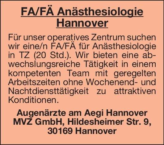 Augenärzte am Aegi Hannover MVZ GmbH Facharzt/Fachärztin Anästhesiologie Augenheilkunde Arzt / Facharzt