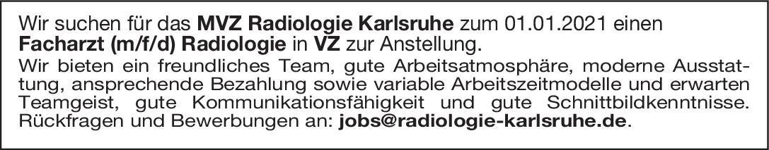 MVZ Radiologie Facharzt (m/f/d) Radiologie  Radiologie, Radiologie Arzt / Facharzt