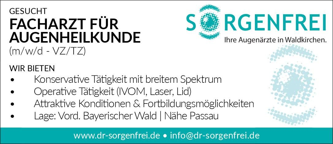 Gemeinschaftspraxis Facharzt für Augenheilkunde (m/w/d) Augenheilkunde Arzt / Facharzt