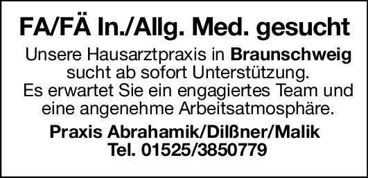 Praxis Facharzt/Fachärztin - Innere/Allgemein Medizin  Innere Medizin, Allgemeinmedizin, Innere Medizin Arzt / Facharzt