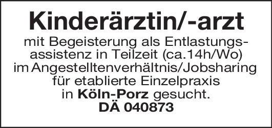 Praxis Kinderärztin/-arzt  Kinder- und Jugendmedizin, Kinder- und Jugendmedizin Assistenzarzt / Arzt in Weiterbildung