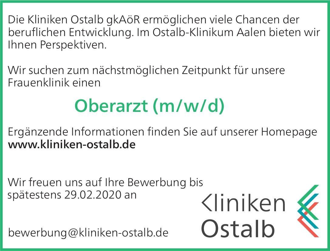 Kliniken Ostalb gkAöR Oberarzt (m/w/d) Gynäkologie  Frauenheilkunde und Geburtshilfe, Frauenheilkunde und Geburtshilfe Oberarzt