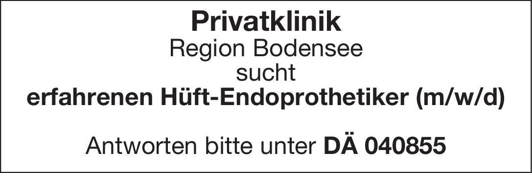 Privatklinik Hüft-Endoprothetiker (m/w/d)  Orthopädie und Unfallchirurgie, Chirurgie Arzt / Facharzt
