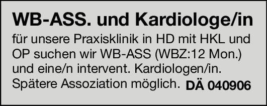 Praxisklinik Weiterbildungsassistent/in Kardiologie  Innere Medizin und Kardiologie, Innere Medizin Assistenzarzt / Arzt in Weiterbildung
