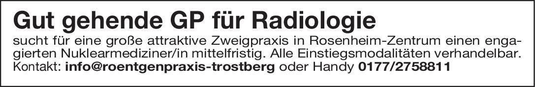 Gemeinschaftspraxis Radiologie Nuklearmediziner/Nuklearmedizinerin Nuklearmedizin Arzt / Facharzt