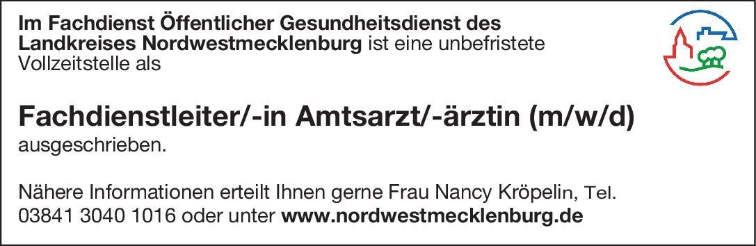 Landkreis Nordwestmecklenburg Fachdienstleiter/-in Amtsarzt/-ärztin (m/w/d) Öffentliches Gesundheitswesen Amtsarzt, Arzt / Facharzt