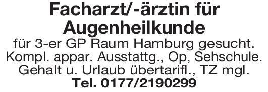 Praxis Facharzt/-ärztin für Augenheilkunde Augenheilkunde Arzt / Facharzt