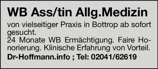 Praxis Weiterbildungsassistent/in Allgemeinmedizin Allgemeinmedizin Assistenzarzt / Arzt in Weiterbildung