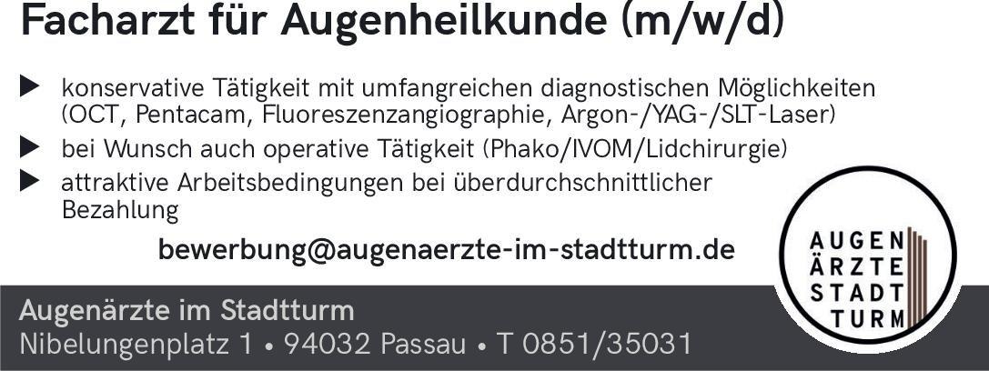 Augenärzte im Stadtturm Facharzt für Augenheilkunde (m/w/d) Augenheilkunde Arzt / Facharzt