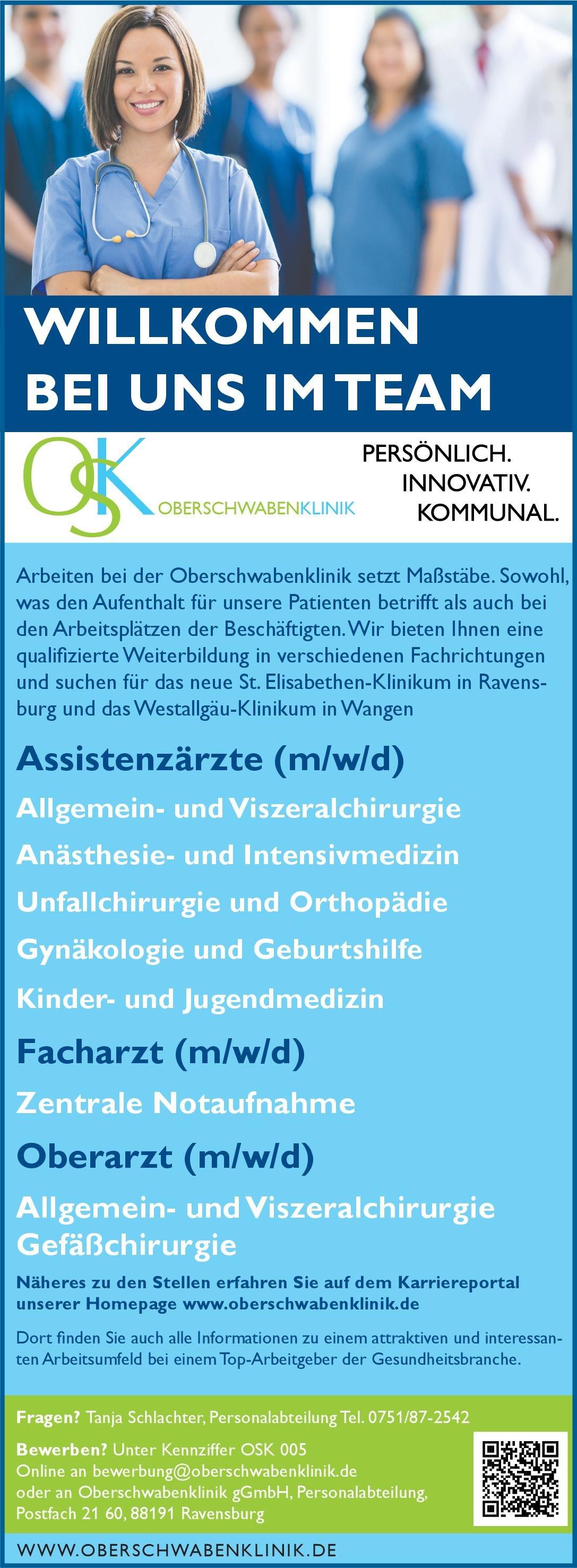 Oberschwabenklinik gGmbH Facharzt (m/w/d) Notfallmedizin Arzt / Facharzt