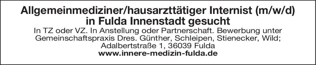 Gemeinschaftspraxis - Dres. Günther, Schleipen, Stienecker, Wild Arzt für Allgemeinmedizin und Innere Medizin  Innere Medizin, Allgemeinmedizin, Innere Medizin Arzt / Facharzt