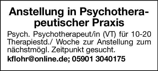 Psychotherapeutische Praxis Psych. Psychotherapeut/in  Psychiatrie und Psychotherapie, Psychiatrie und Psychotherapie Psych. Psychotherapie