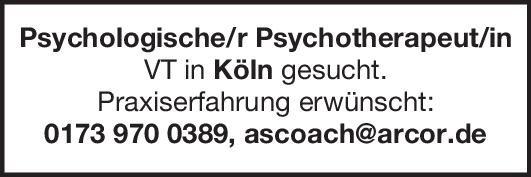 Praxis Psychologische/r Psychotherapeut/in VT Psychiatrie und Psychotherapie Psych. Psychotherapie