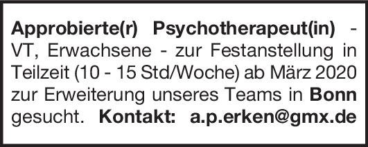 Praxis Approbierte(r) Psychotherapeut(in)  Psychiatrie und Psychotherapie, Psychiatrie und Psychotherapie Arzt / Facharzt